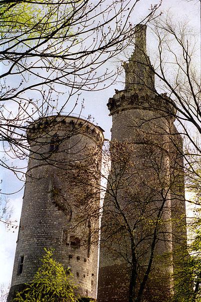Ruines du Château Charles VII à Mehun-sur-Yèvre, Cher