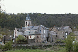 A view of the church in the village of Les Salelles