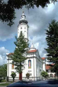 Serbian Orthodox church in Lešnica