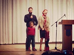 Lesya Orobets with family.jpg