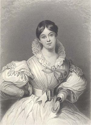 Letitia Elizabeth Landon - Letitia Elizabeth Landon (1802–1838); variation of the original painting by Daniel Maclise