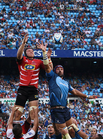 Victor Matfield - Matfield winning a line-out against the Lions
