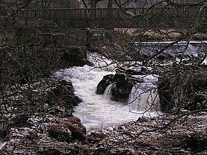 River Wharfe - Linton Falls, on the upper Wharfe near Grassington
