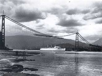 Lions Gate Bridge - Lions Gate Bridge under construction