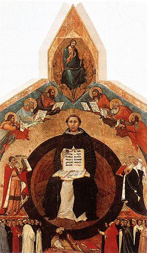 Santa Caterina (Pisa) - Triumph of St Thomas Aquinas by Lippo Memmi