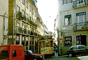 Nesquik - Nesquik Bunny in an advertisement for Nesquik on a tram in Lisbon, Portugal in 1997