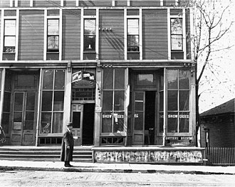 Rooming house - The Liverpool House, a rooming house in Seattle, in 1909.