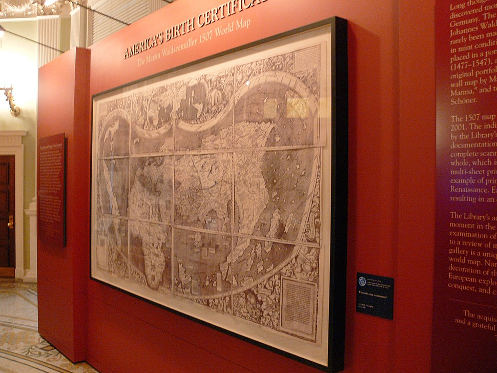 LoC Waldseemüller map display 2007