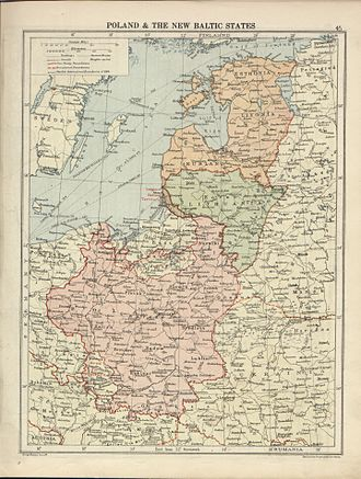 Timeline of historical geopolitical changes - Poland and the Baltic states after the Treaty of Versailles
