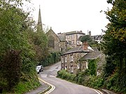 Looking up Town Hill to the Church and St Agnes Hotel - geograph.org.uk - 68769