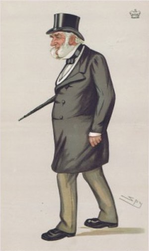"""Edward Digby, 9th Baron Digby - """"Lord Leicester's nephew"""" Digby as caricatured by Spy (Leslie Ward) in Vanity Fair, September 1883"""