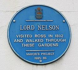 Photo of Horatio Nelson blue plaque