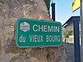 Lozanne - Chemin du Vieux Bourg - Plaque (août 2018).jpg