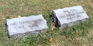 James E. Cantrill - Gravestones of KY Lt. Gov. James E. Cantrill and wife Mary located at Georgetown Cemetery.