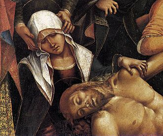 Luca Signorelli - Lamentation over the Dead Christ, detail, 1502