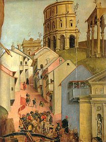Luca signorelli, martirio di san sebastiano, dettaglio