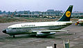 Lufthansa Boeing 737-100 at Manchester Airport in 1972.jpg
