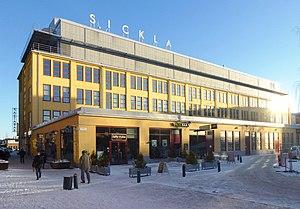 Sickla Köpkvarter - Image: Luftverkstaden Sickla 2014a