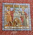 Málaga-Mural azulejos Iglesia Santos Mártires 01 Patronos de Málaga.JPG
