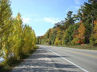 Pure Michigan Byway - Image: M 22 fall color