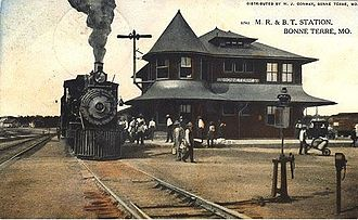 Mississippi River and Bonne Terre Railway - Image: M.R. and B.T. Station, Bonne Terre, MO