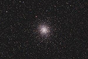 Messier 22 - Globular Cluster Messier 22 with amateur telescope