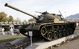 M48 Patton - M48 Patton on display in Thun, Switzerland