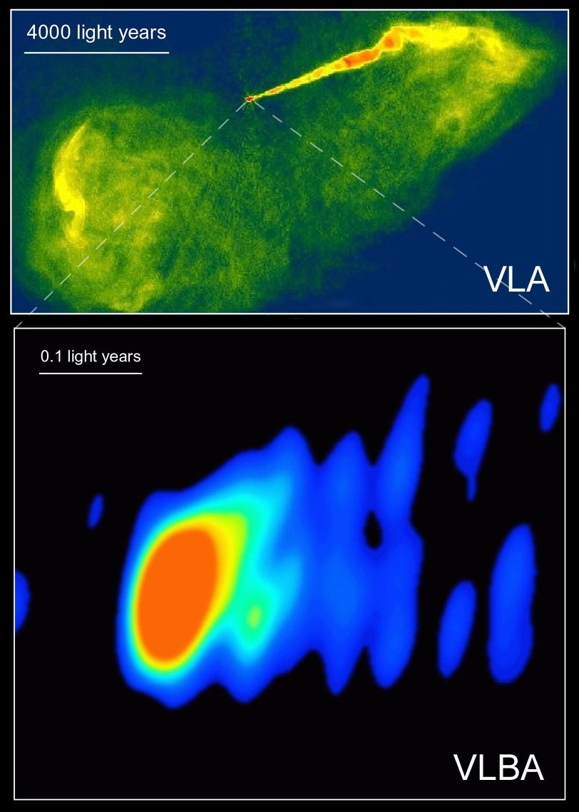 M87 VLA VLBA radio astronomy