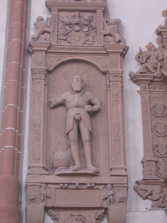 Philipp III, Count of Hanau-Münzenberg - Epitaph of Philipp III in the St. Mary's Church in Hanau