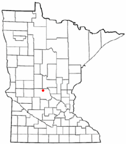 Location of the city of St. Anthony within Stearns County, Minnesota
