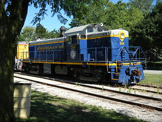 Minneapolis and St. Louis Railway - Ex-Minneapolis and Saint Louis 244 at Boone and Scenic Valley Railroad