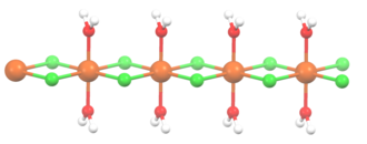 Manganese(II) chloride - Subunit of MnCl2(H2O)2 lattice.