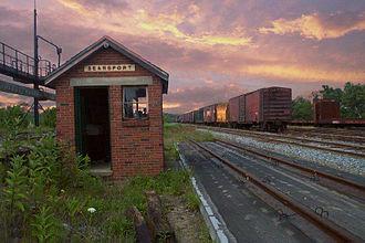 Searsport, Maine - Mack Point cargo terminal rail yard