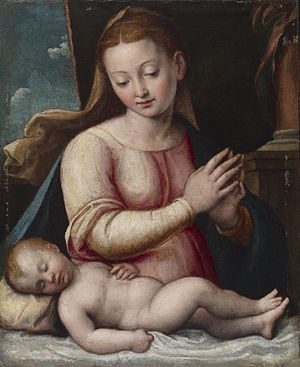 Barbara Longhi - Madonna Adoring the Child, ca. 1600–05