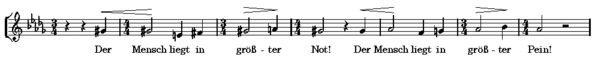 Fourth movement, beginning of alto solo