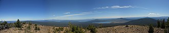 Maiden Peak (Oregon) - Image: Maiden Peak pano edit