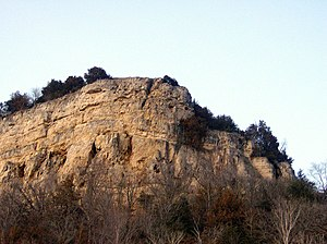 Winona County, Minnesota - Maiden Rock, from which legend has it the Dakota maiden named Winona leapt to her death