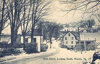Warren, Vermont - Main Street c. 1910