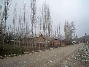 Ak-Bulak, Leilek - One of the main roads in Ak-Bulak