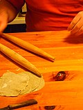 Making Karelian pasties, Duncan rolls the crust (5299352259).jpg