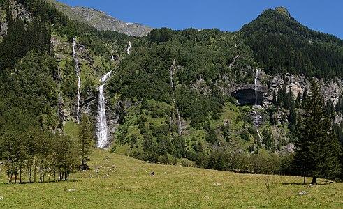 Waterfalls in the Seebach Valley near Mallnitz, High Tauern National Park, Carinthia, Austria