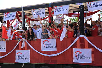 Labour Party (Malta) - Labourites celebrate after the 2013 election.