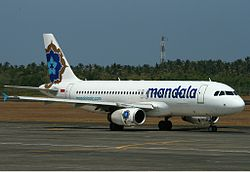 Airbus A320-200 der Mandala Airlines