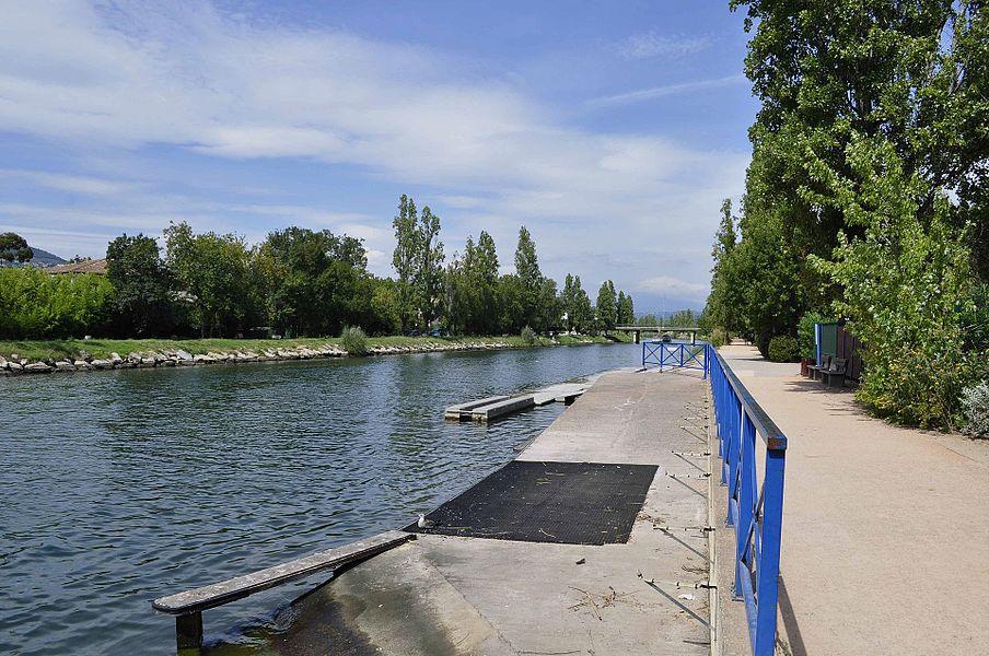 Mandelieu-la-Napoule: rive de la Siagne (près du club d'aviron).