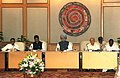 Manmohan Singh chairing the fifth meeting of the National Disaster Management Authority, in New Delhi. The Union Home Minister, Shri Sushilkumar Shinde, the Minister of State for Personnel.jpg