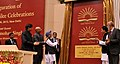 Manmohan Singh unveiling the plaque to launch the new logo of the Kendriya Vidyala Sangathan, at the Golden Jubilee Celebrations of the Kendriya Vidyala Sangathan (KVS).jpg