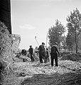 Mannen bezig met het dorsen van hennep, Bestanddeelnr 254-4268.jpg