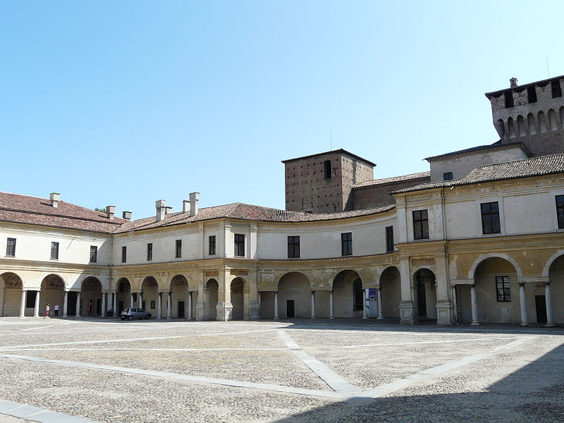 Piazza Castello, entrance to Castle St. George, Mantova