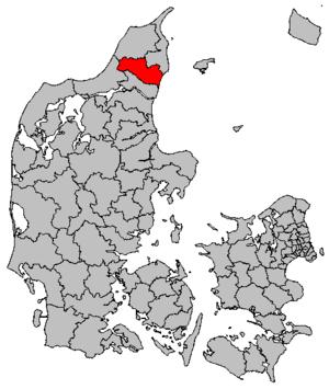 Brønderslev Municipality - Location of the municipality