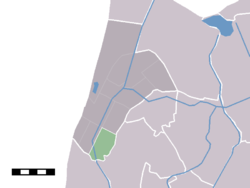The statistical district (lightgreen) of Burgerbrug in the former municipality of Zijpe.